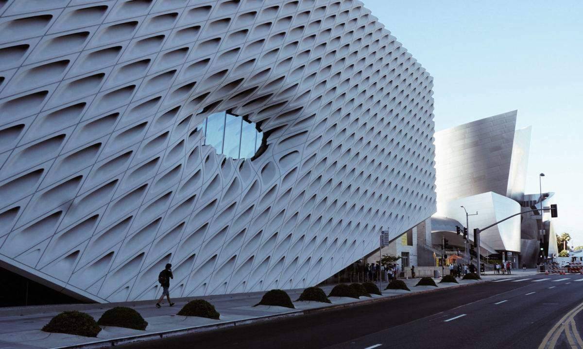 The Broad Museum with Disney Hall in the Background