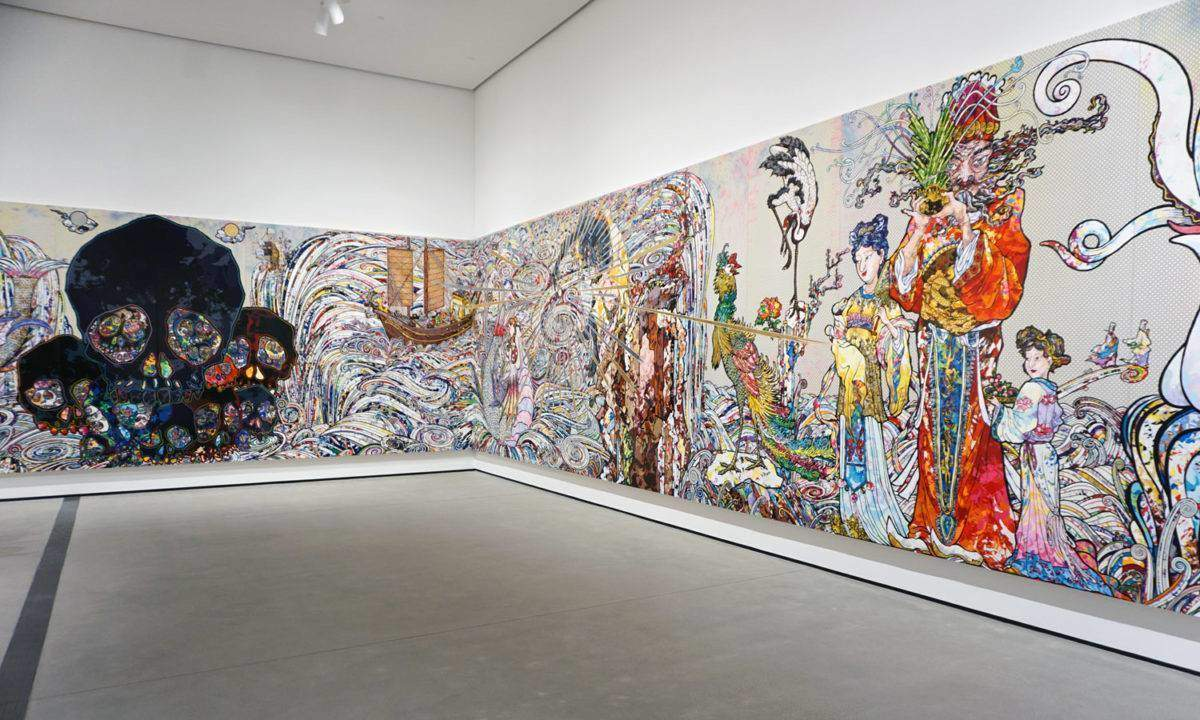 Takashi Murakami's 'In the Land of the Dead, Stepping on the Tail of a Rainbow'