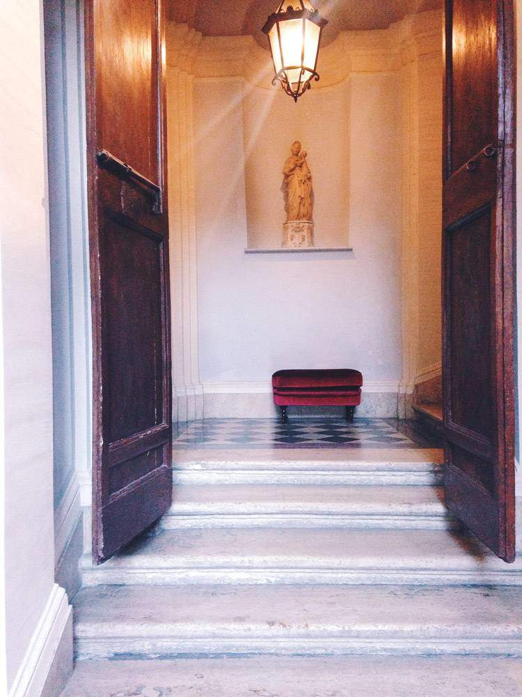 A Stairwell Nook at the Donna Camilla Savelli Hotel