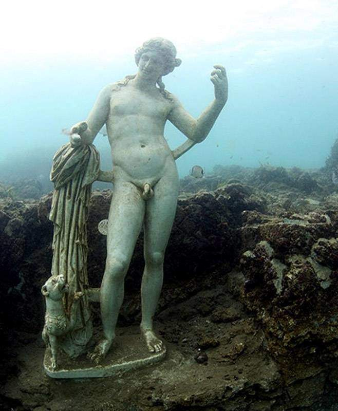 Baiae, the submerged former summer playground of the Ancient Roman elite.
