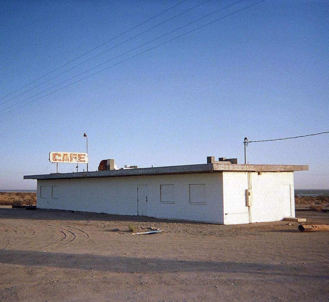 An abandoned cafe at the Salton Sea.