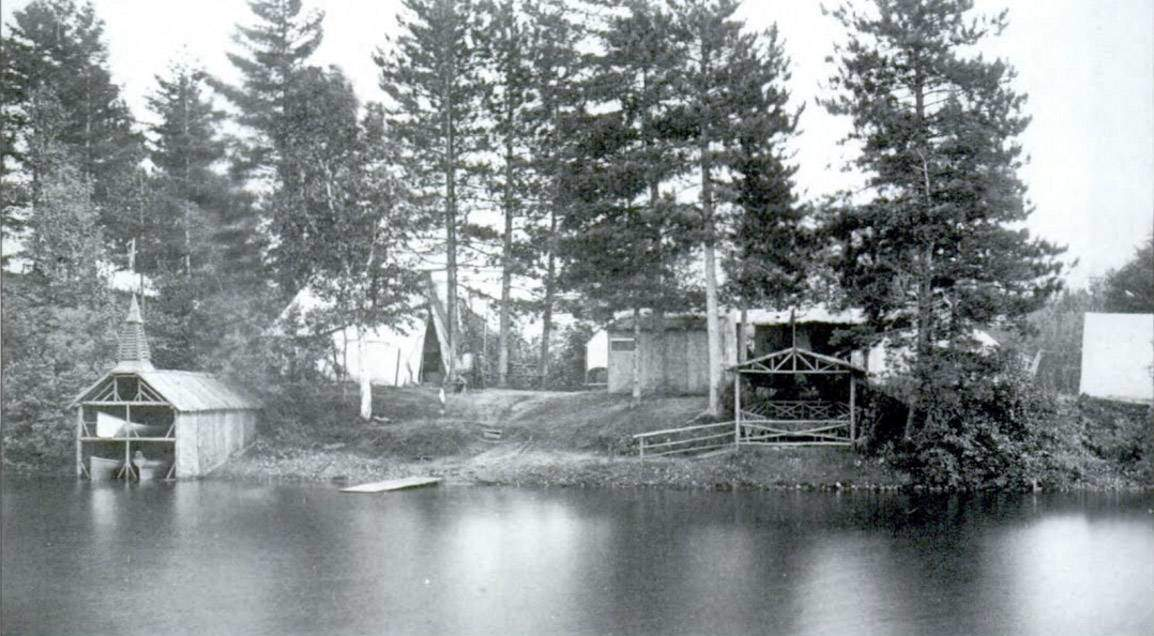 An 1881 photo of a summer camp on Upper St. Regis Lake in the heart of what would become the moneyed Adirondacks.