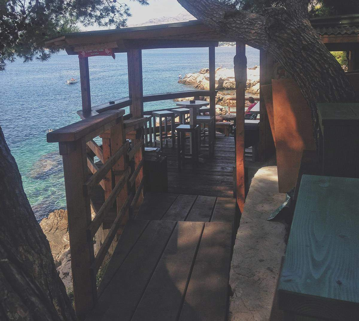 A bar in Cavtat, Croatia