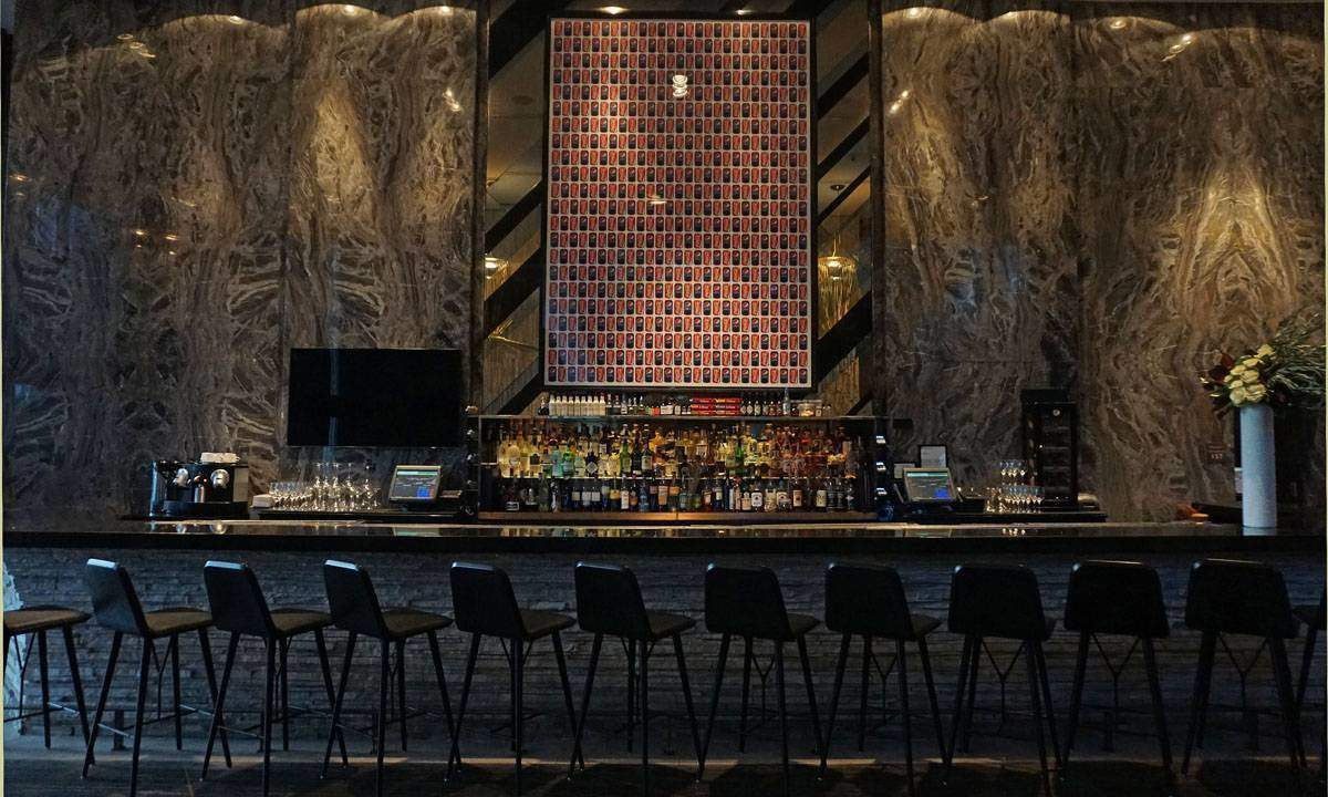 Living Room bar at the W South Beach.