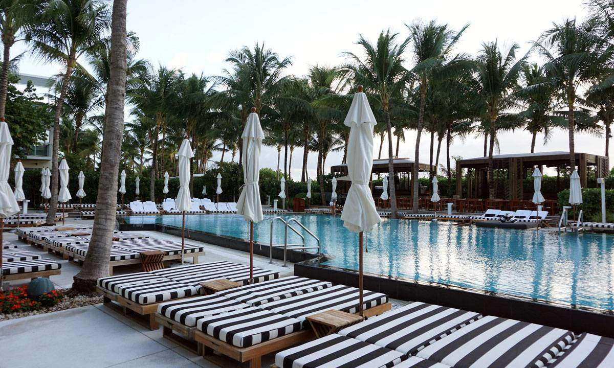 Pool at the W Hotel in South Beach.