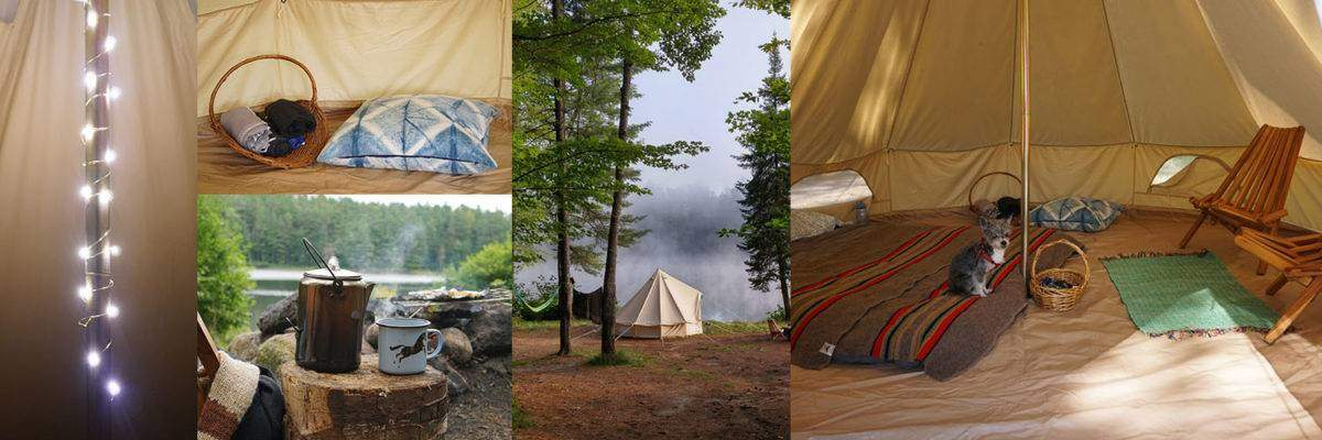 Bell Tent collage & Everything You Need for Perfect Bell Tent Decor | Flung