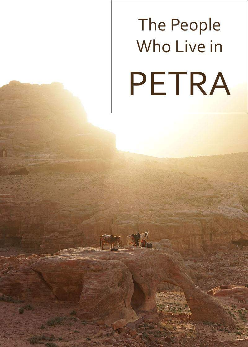 While watching the sunset in Petra, I met a Bedouin man who said he lived in one of the ancient city's caves.