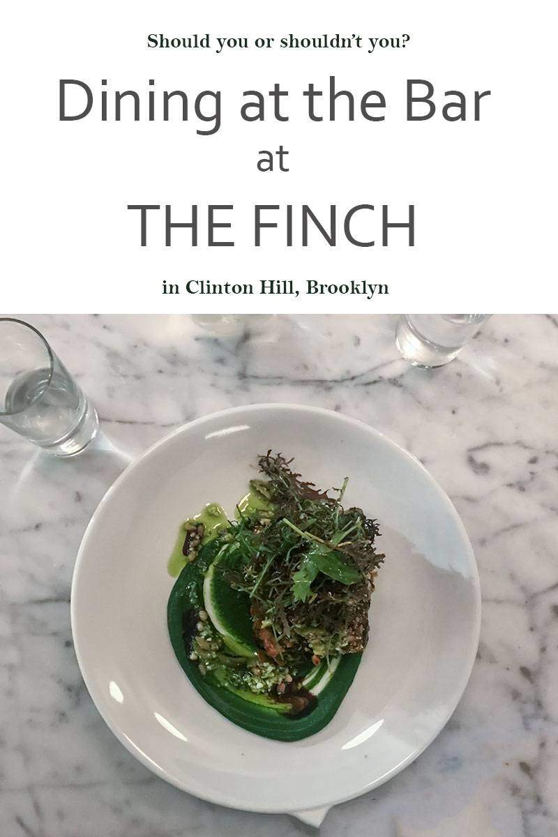 In the Bar Diner, Flung reviews restaurants from the perspective of sitting at the bar. Click through to see how The Finch measures up.