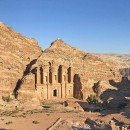 The Monastery at Petra, an hour-long hike up into the desert mountains.