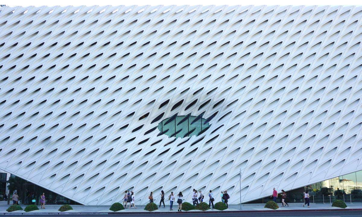 The Broad Museum from across the street.