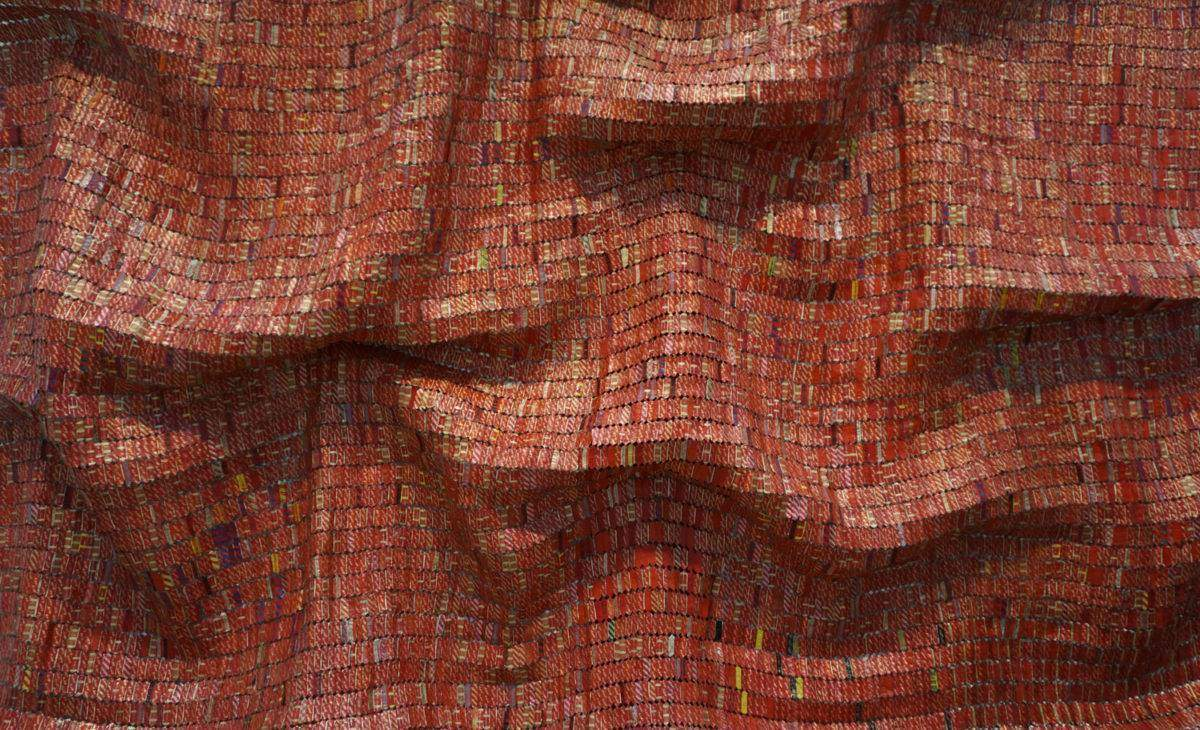 Detail from El Anatsui's 'Red Block'