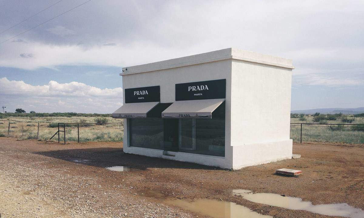 Prada Marfa in the high desert of Texas.