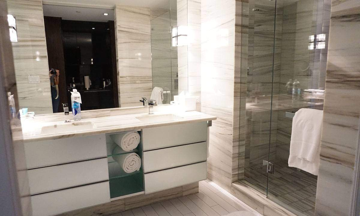 Bathroom in a Room at the W South Beach