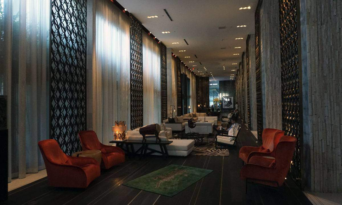 Lobby of the W South Beach.