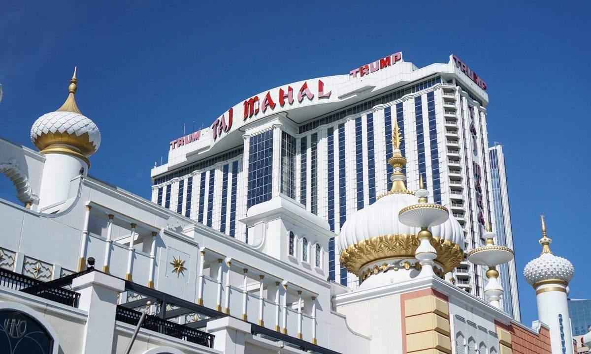 The Trump Taj Mahal, one of 5 shuttered casinos in Atlantic City.