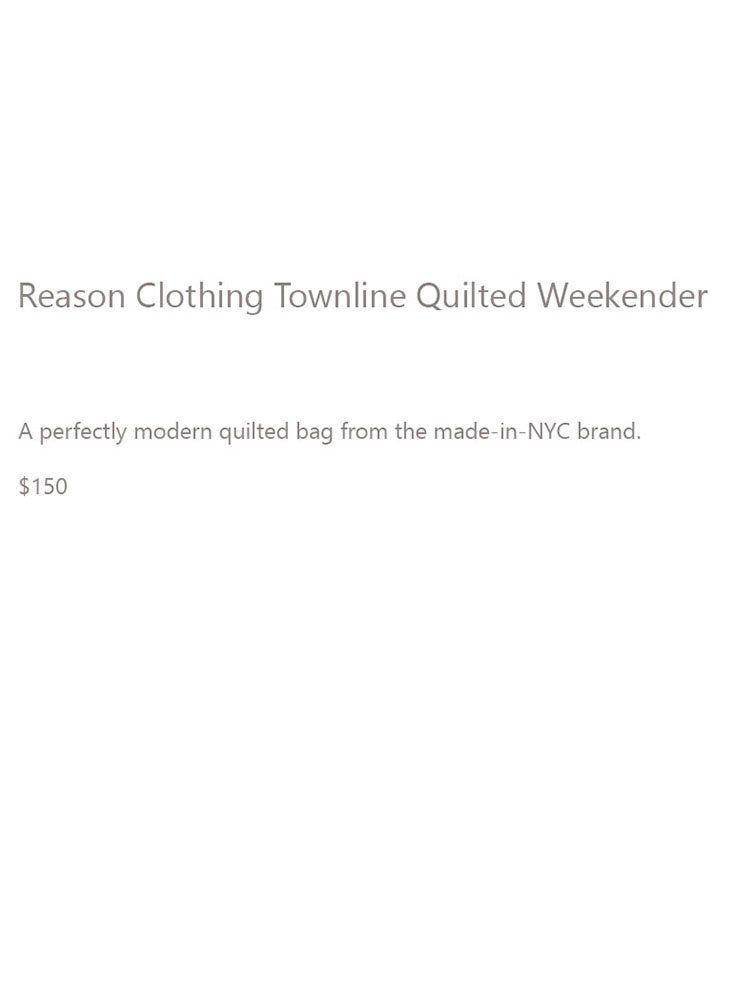 Reason Clothing Weekender Description FINAL