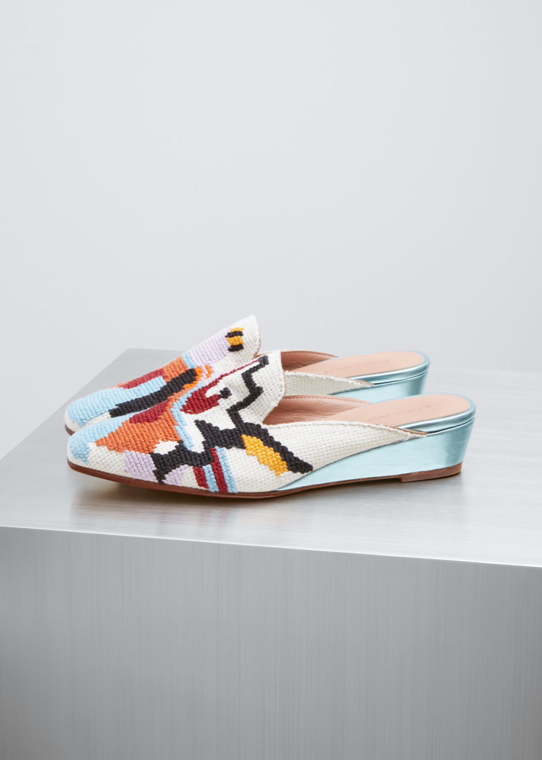 Rachel Comey Embroidered Wedges