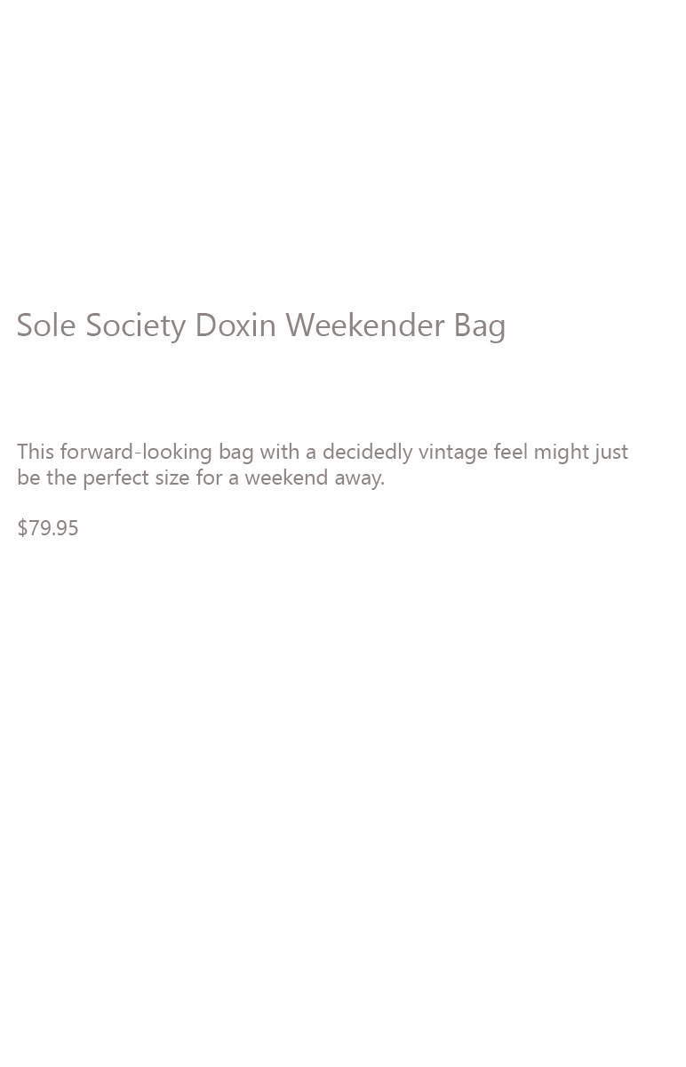 Sole Society Doxin Bag Description
