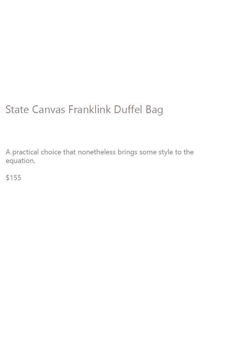 State Canvas Duffel Description